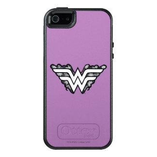 Wonder Woman Black Lace Logo OtterBox iPhone 5/5s/SE Case