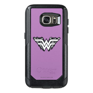 Wonder Woman Black Lace Logo OtterBox Samsung Galaxy S7 Case