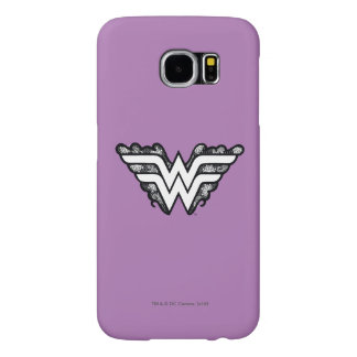 Wonder Woman Black Lace Logo Samsung Galaxy S6 Cases