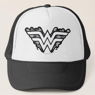 Wonder Woman Black Lace Logo Trucker Hat