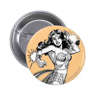 Wonder Woman Black & White Defender 6 Cm Round Badge