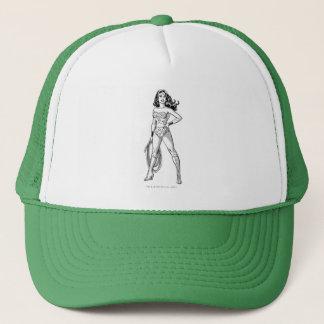 Wonder Woman Black & White Pose Trucker Hat