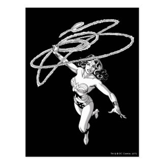Wonder Woman Black & White Twirl Postcard