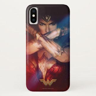 Wonder Woman Blocking With Bracelets iPhone X Case