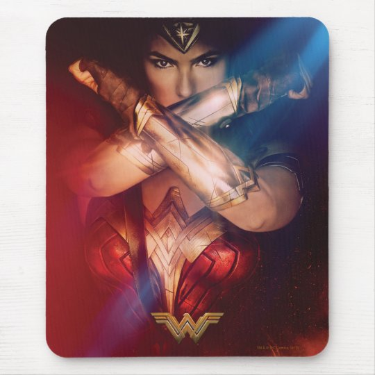 Wonder Woman Blocking With Bracelets Mouse Pad
