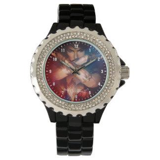 Wonder Woman Blocking With Bracelets Wrist Watches