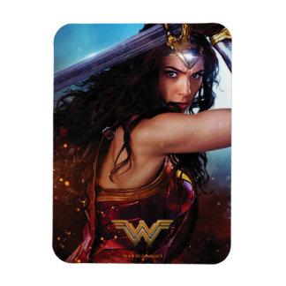 Wonder Woman Blocking With Sword Magnet
