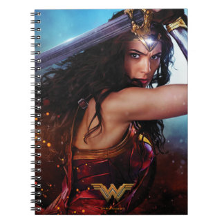 Wonder Woman Blocking With Sword Notebooks