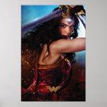 Wonder Woman Blocking With Sword Poster