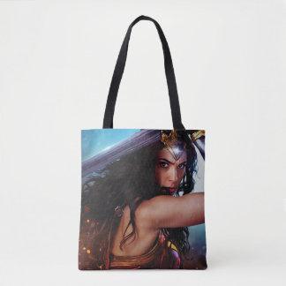 Wonder Woman Blocking With Sword Tote Bag