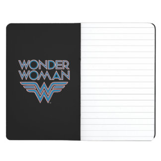 Wonder Woman Blue and Red Retro Logo Journal