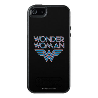 Wonder Woman Blue and Red Retro Logo OtterBox iPhone 5/5s/SE Case