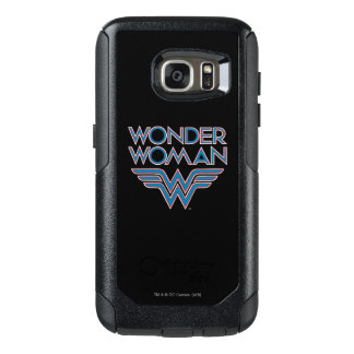 Wonder Woman Blue and Red Retro Logo OtterBox Samsung Galaxy S7 Case