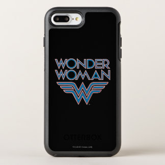Wonder Woman Blue and Red Retro Logo OtterBox Symmetry iPhone 8 Plus/7 Plus Case
