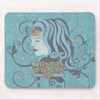 Wonder Woman Blue Background Mouse Mat