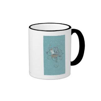 Wonder Woman Blue Background Ringer Mug
