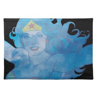 Wonder Woman Blue Sky Silhouette Placemat