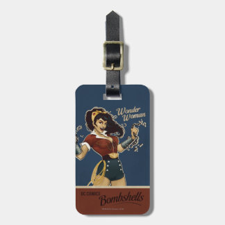 Wonder Woman Bombshell Luggage Tags