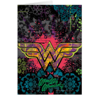 Wonder Woman Brick Wall Collage Card