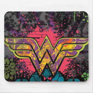 Wonder Woman Brick Wall Collage Mouse Mat