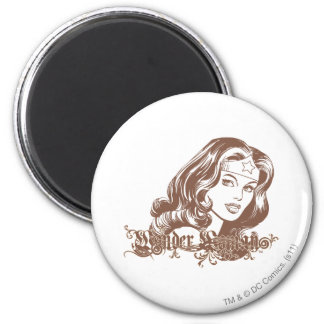 Wonder Woman Brown Magnet