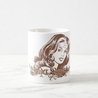 Wonder Woman Brown Basic White Mug