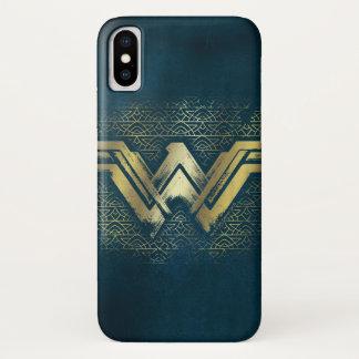 Wonder Woman Brushed Gold Symbol iPhone X Case