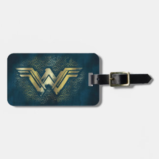 Wonder Woman Brushed Gold Symbol Luggage Tag