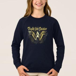 Wonder Woman Brushed Gold Symbol Sweatshirt