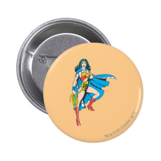 Wonder Woman Cape 6 Cm Round Badge