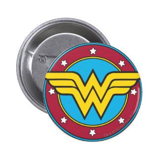 Wonder Woman | Circle & Stars Logo 6 Cm Round Badge