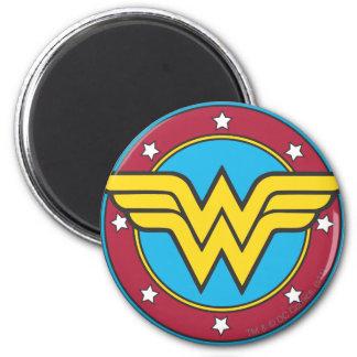 Wonder Woman Circle & Stars Logo 6 Cm Round Magnet