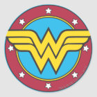 Wonder Woman | Circle & Stars Logo Classic Round Sticker