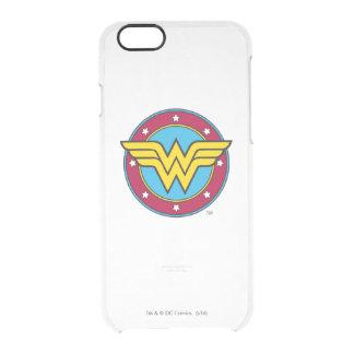 Wonder Woman | Circle & Stars Logo Clear iPhone 6/6S Case