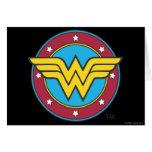 Wonder Woman Circle & Stars Logo Greeting Card