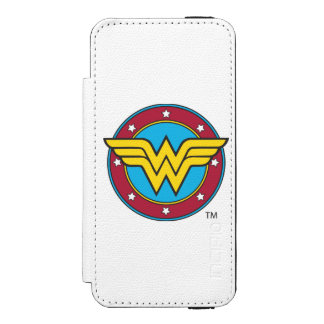 Wonder Woman Circle & Stars Logo Incipio Watson™ iPhone 5 Wallet Case