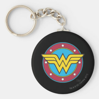 Wonder Woman | Circle & Stars Logo Key Ring