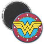 Wonder Woman Circle & Stars Logo Magnets