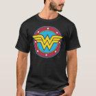 Wonder Woman | Circle & Stars Logo T-Shirt
