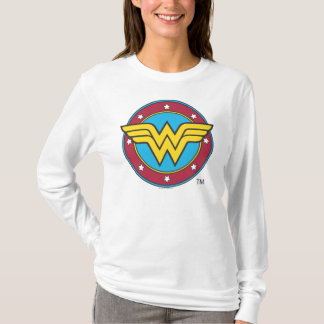 Wonder Woman | Circle & Stars Logo T-Shirt