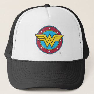 Wonder Woman | Circle & Stars Logo Trucker Hat