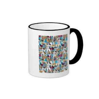 Wonder Woman Collage 10 Ringer Mug