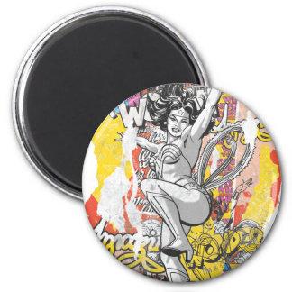 Wonder Woman Collage 1 6 Cm Round Magnet