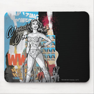 Wonder Woman Collage 2 Mouse Pad