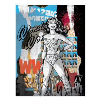 Wonder Woman Collage 2 Postcard