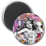 Wonder Woman Collage 3 Magnet