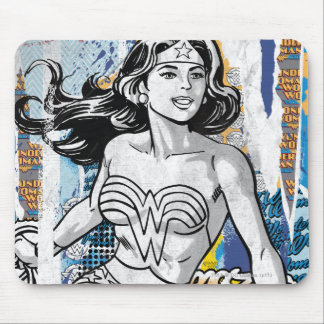 Wonder Woman Collage 4 Mouse Mat