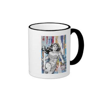 Wonder Woman Collage 4 Ringer Mug