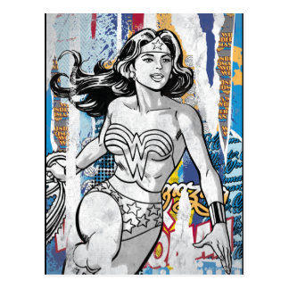 Wonder Woman Collage 4 Postcard