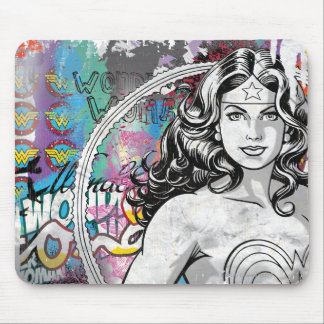 Wonder Woman Collage 6 Mouse Mat